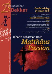 Flyer Matthäus Passion 2016